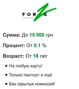 Кредит без дзвінків від Форза